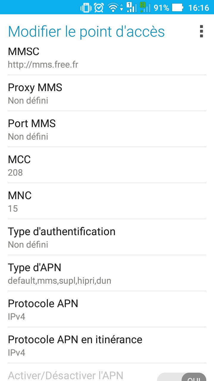comment configurer les param u00e8tres apn  access point name  sur un smartphone android